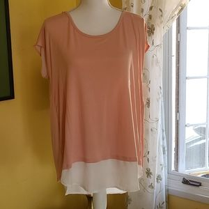 NWT New York and Company Cap Sleeved Top Size L
